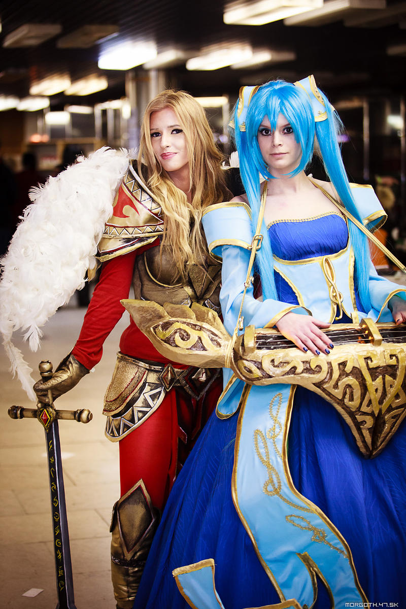 Kayle and Sona - League of Legends cosplay by morgoth87 on DeviantArt