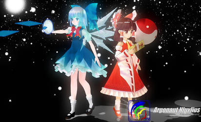 Chibi Reimu And Cirno Child Girl Loaded Weapon by Argonaut-Niuxlius