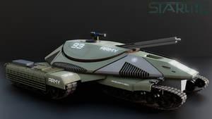Starlite Aerospace M9A5 Reaper MBT. Army Livery.