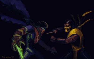 Raziel vs Scorpion (speedpaint) by PitBOTTOM