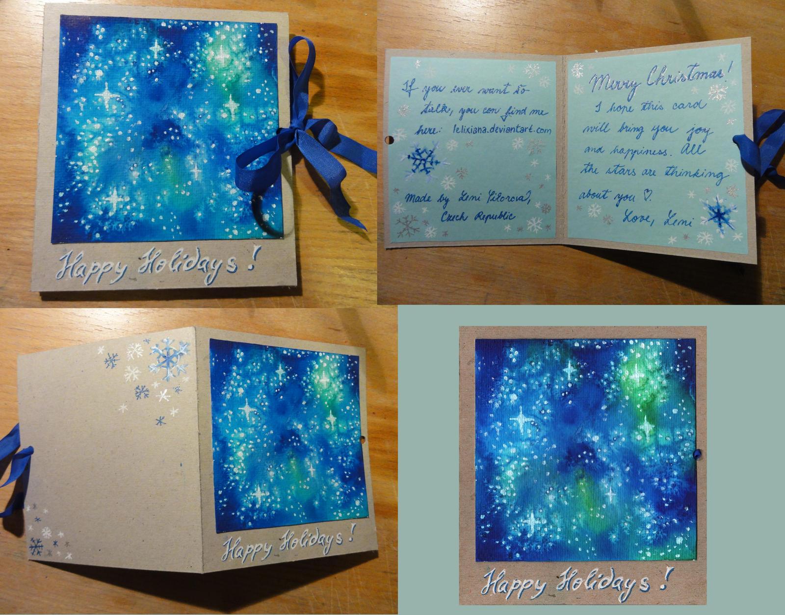 Night-sky Card by Lelixiana
