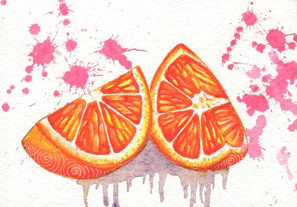 Fruit project #3 Red Orange by Lelixiana