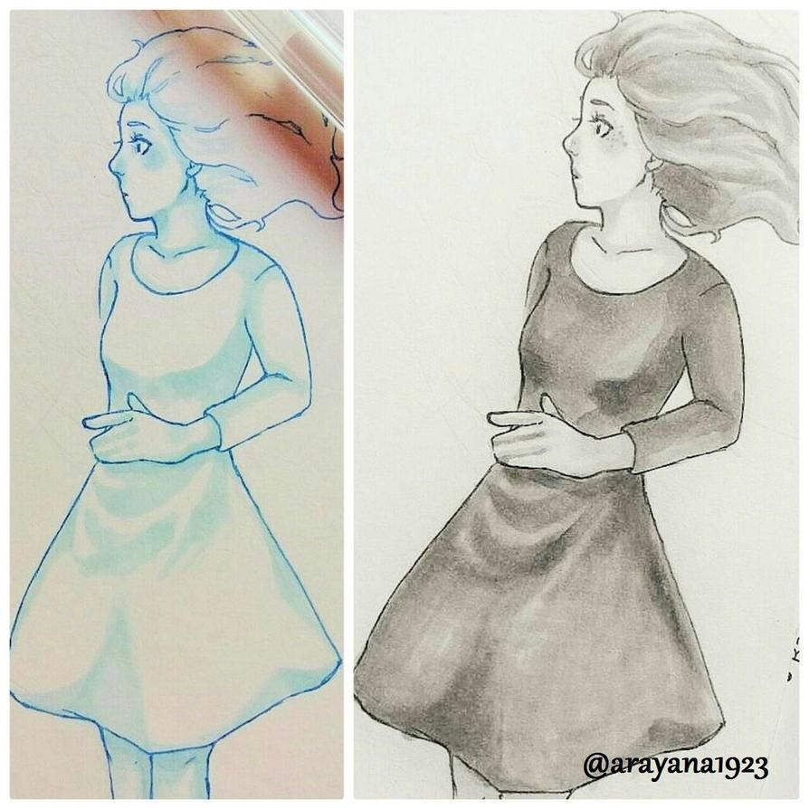 Sketch Girl 1 by Arayana1923