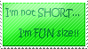 Short...Fun size stamp by 3m0k1tty