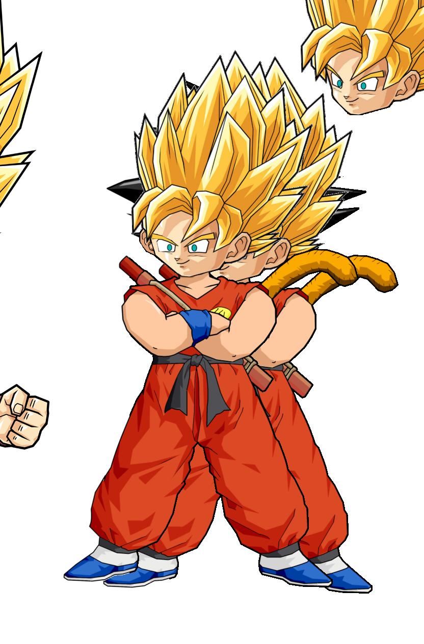 Kid Goku SSJ by RobertoVile on DeviantArt