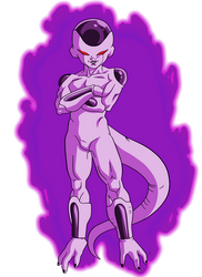 Dark Frieza 4th form by RobertoVile