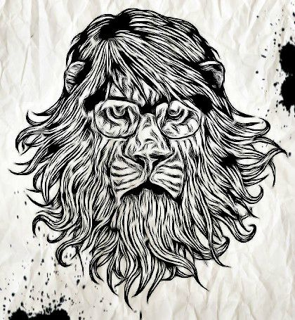 Lion hipster - photo#11