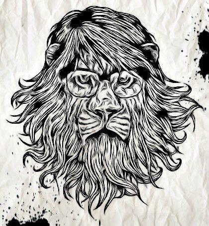 Hipster Lion By MyChemicalRMY