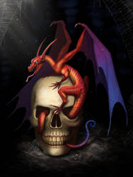 Skull Dragon by Art-Ranger