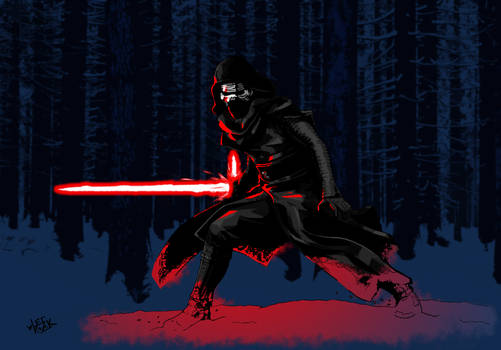 Kylo Ren on Starkiller Base