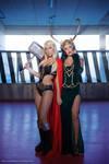 Lady Thor and Lady Loki