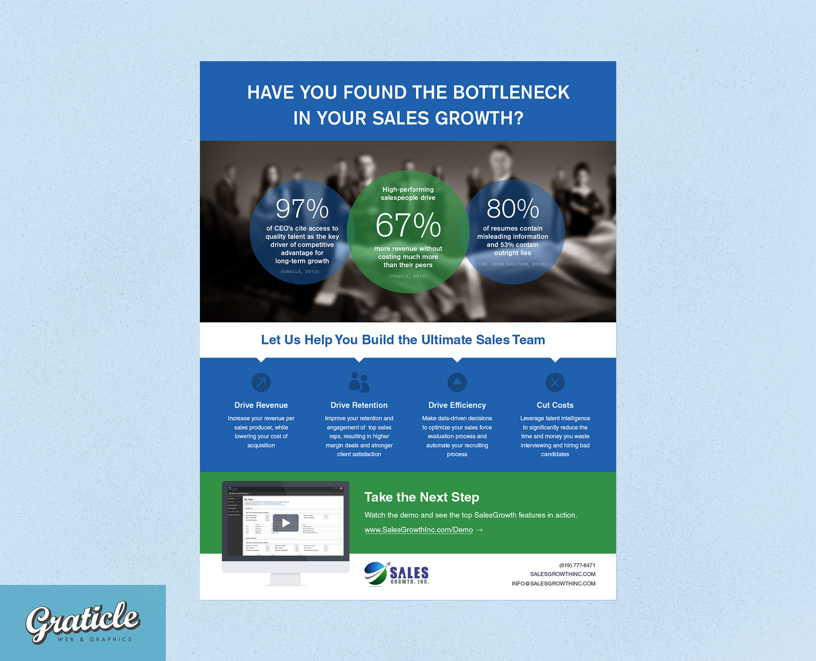 Sales Growth Inc One Pager Flyer Design by graticle on DeviantArt – Sales Flyer Design