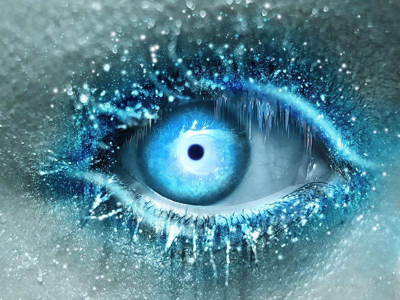 cold ice eye digital art