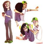 skrillmau5 doodles