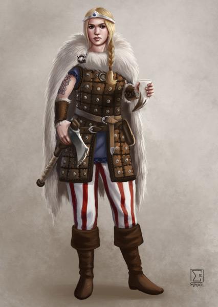 DSA - Thorwalian warrior by ElifSiebenpfeiffer
