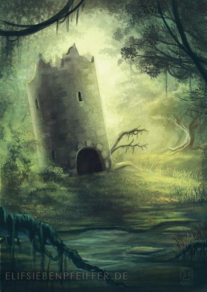 The Sixth Dungeon: Cimeies Tower_in_the_swamp_by_elifsiebenpfeiffer-d7ihfsj