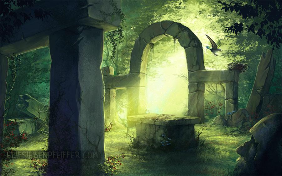 Forest Altar by ElifSiebenpfeiffer