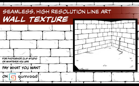 Resource: Seamless Line Art Brick Wall Texture