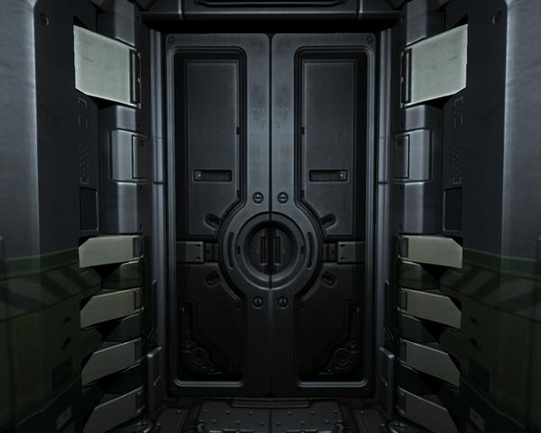 futuristic door amp futuristic bulkhead door second life by