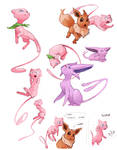 Pokemon Mystery Dungeon Doodles by AlpariArt