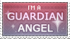 Guardian angel stamp by Simonetry