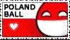 Polandball stamp