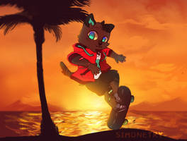 Sunset ride by Simonetry