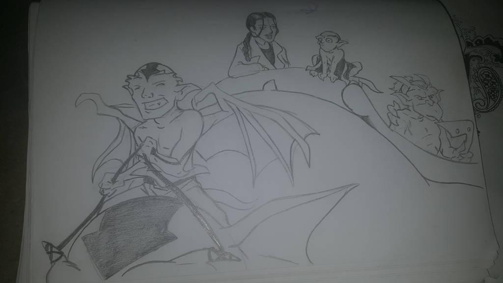gargoyles/avatar crossover by Camsdragon