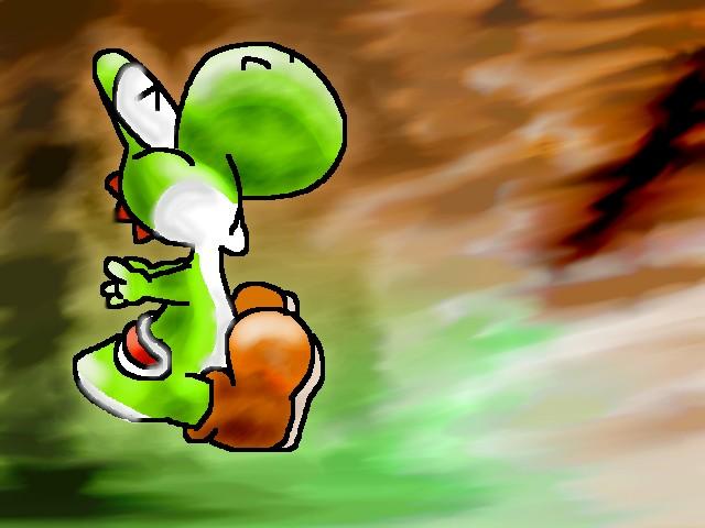 Lil' green Yoshi by Sammytabbycat