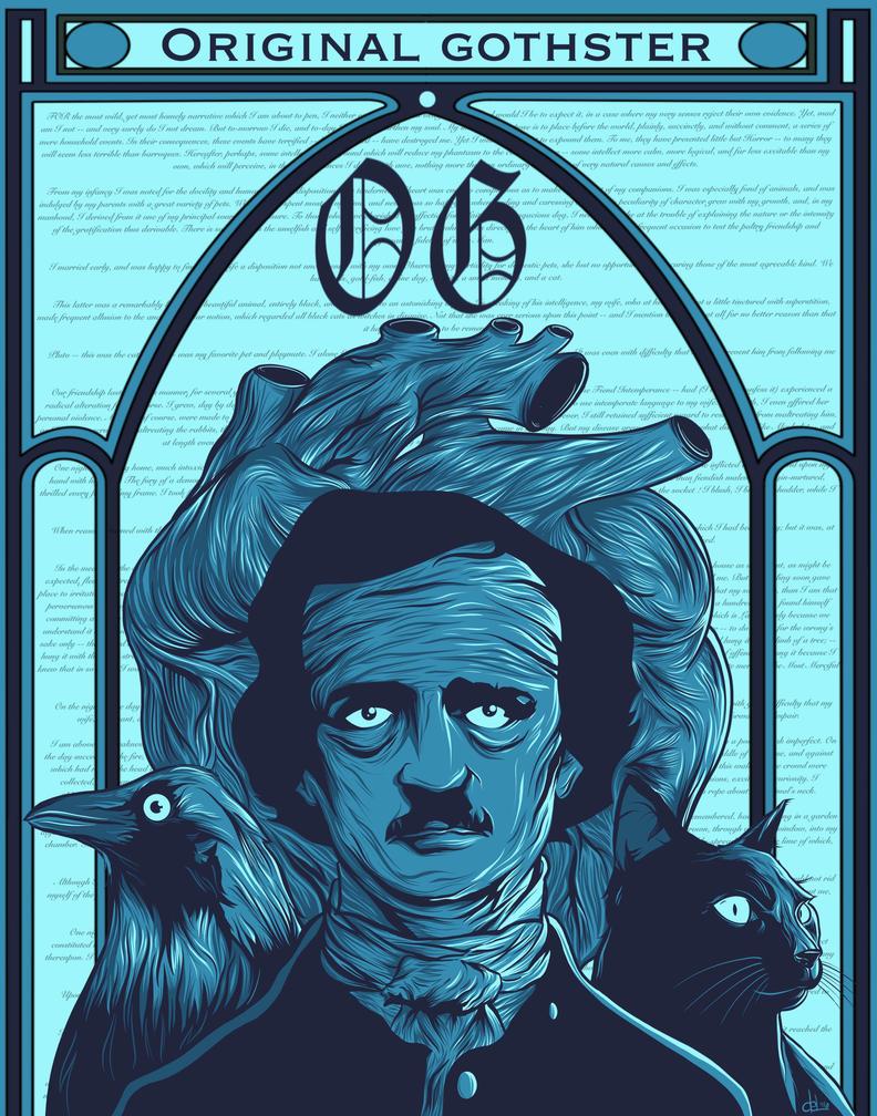 O.G. - Original Gothster (Edgar Allan Poe) by BeeJayDeL