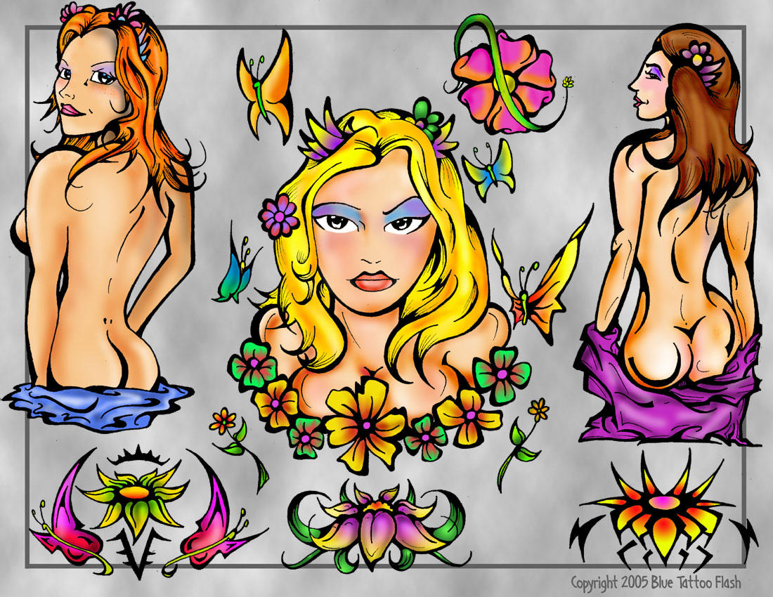 Girls Tattoo Flash Page by