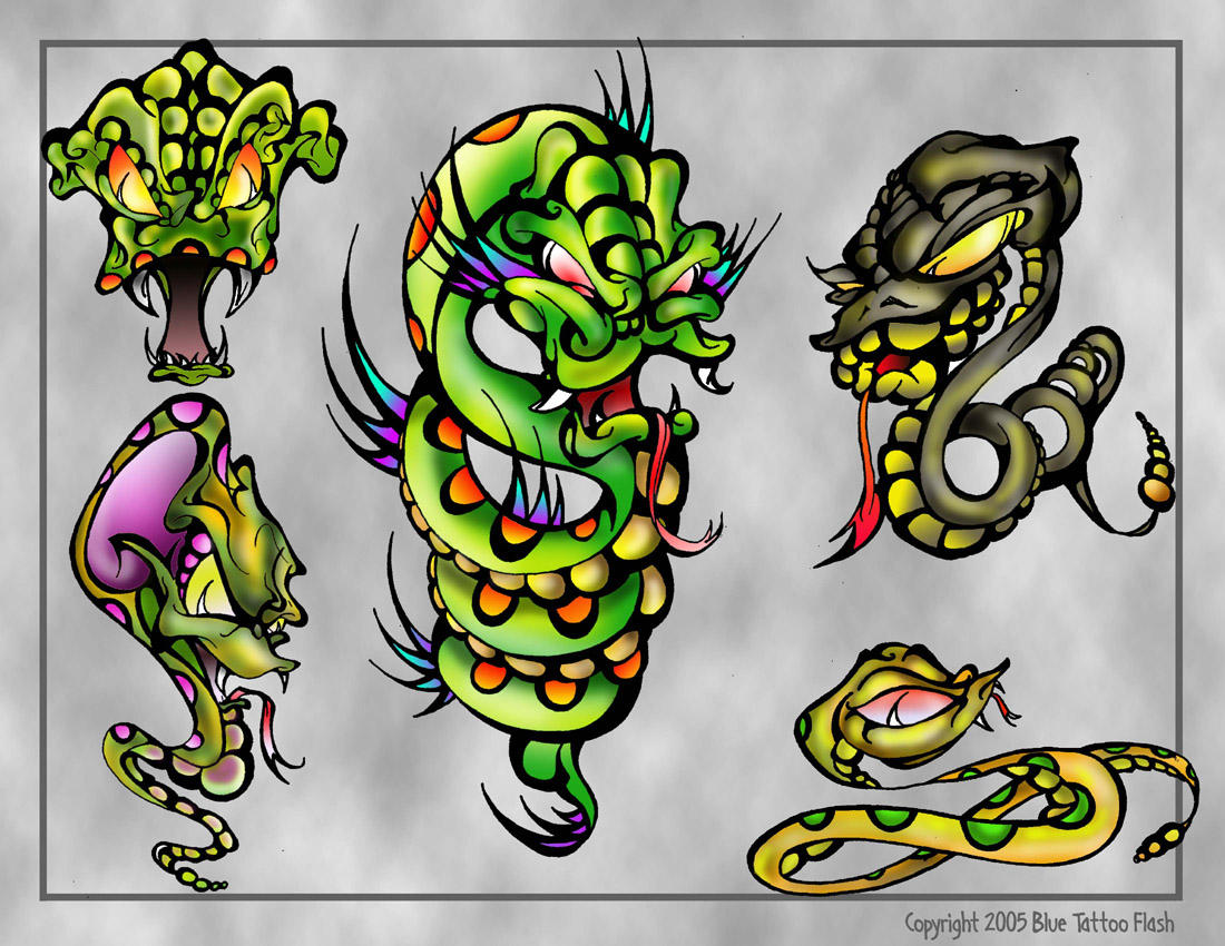 snakes tattoo flash by beejaydel on deviantart. Black Bedroom Furniture Sets. Home Design Ideas