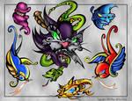 Cat Tattoo Flash Page