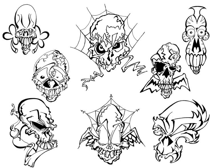 Mo Skulls 2 Tattoo Flash by BeeJayDeL on DeviantArt