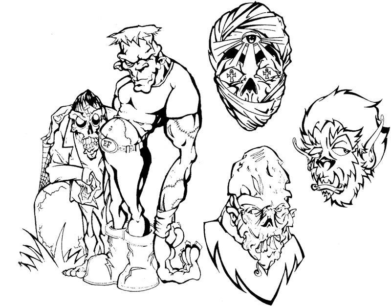 Horror Tattoo Flash by ~BeeJayDeL on deviantART