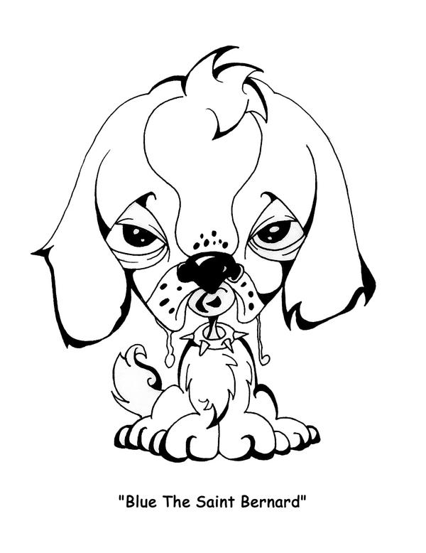 Easy To Draw Saint Bernard Coloring Pages St Bernard Coloring Pages
