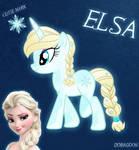 Elsa Pony From Frozen (No Capes No Shoes)