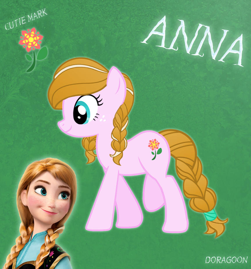 Anna From Frozen as a My Little Pony
