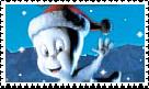 Casper Christmas Stamp by faery-dustgirl