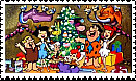 Flinstones Christmas Stamp by faery-dustgirl