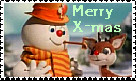 Frosty and Rudolph Stamp2 by faery-dustgirl