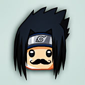 Sasuke with a mustache by DYLANMEZA97