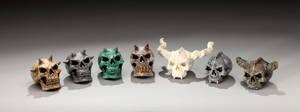 Assorted Skulls by DaveRichardsonArt