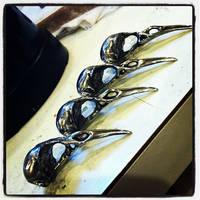 Black Bird Skull Ring/Pendant WIP by DaveRichardsonArt