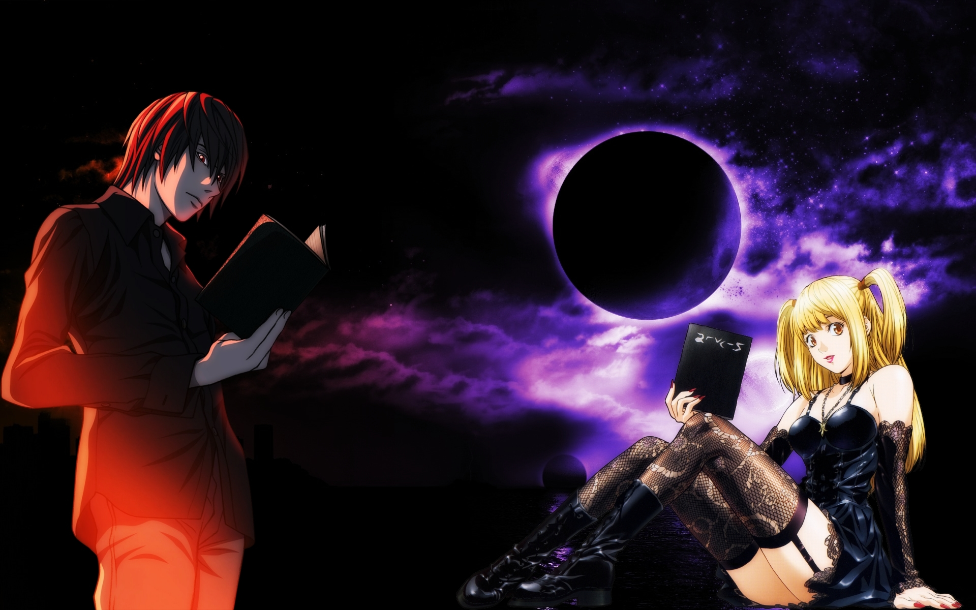 Death Note Light Yagami And Misa Amane Wallpaper By Ryu17v On