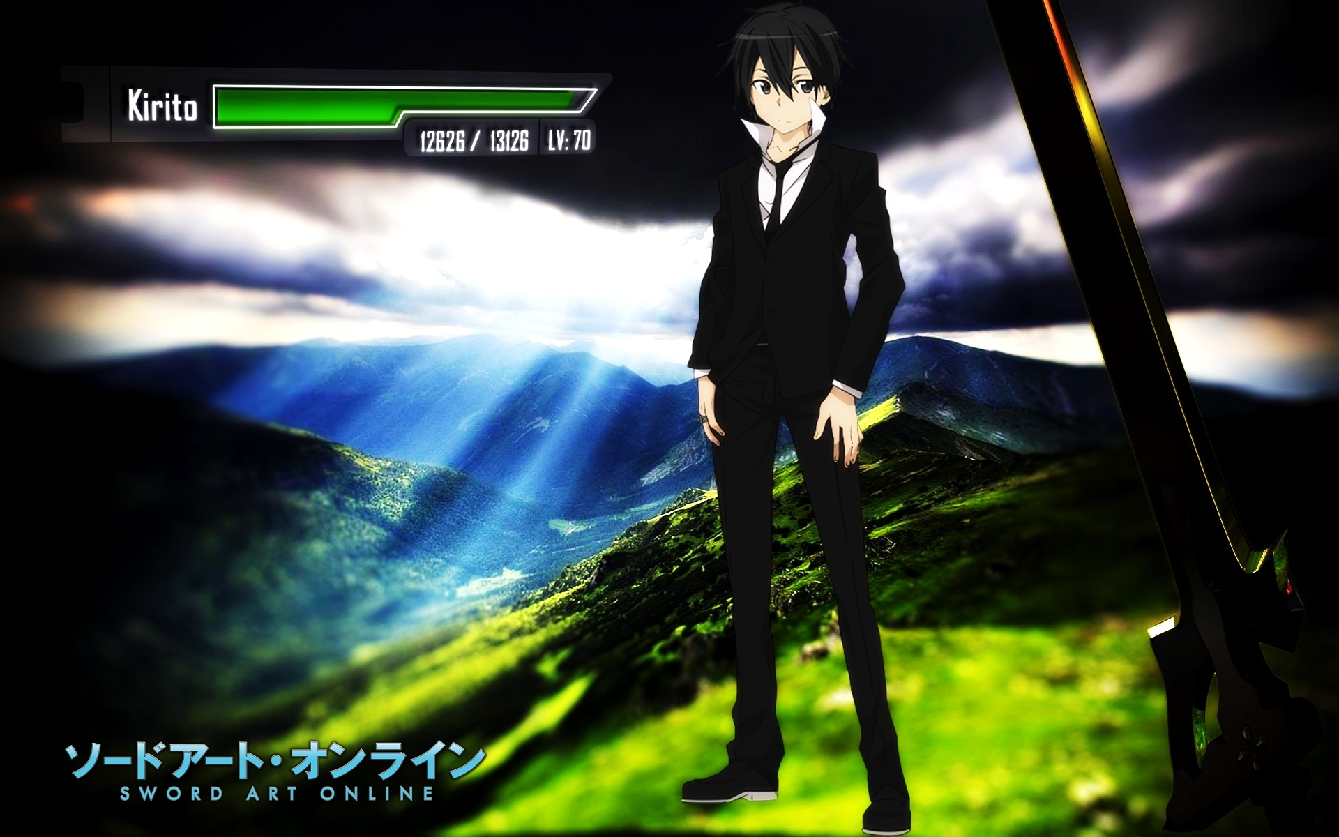 sword art online kirigaya kazuto wallpaperryu17v on deviantart