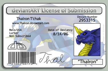 Thalron's License. XD