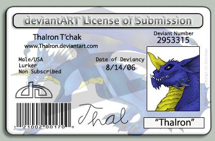 Thalron's License. XD by Thalron