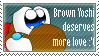 Brown Yoshi Stamp by smwforever45