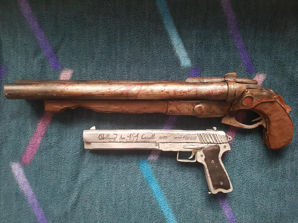 Cosplay Weapons: Super Shotgun and Joshua by Buje-Boy